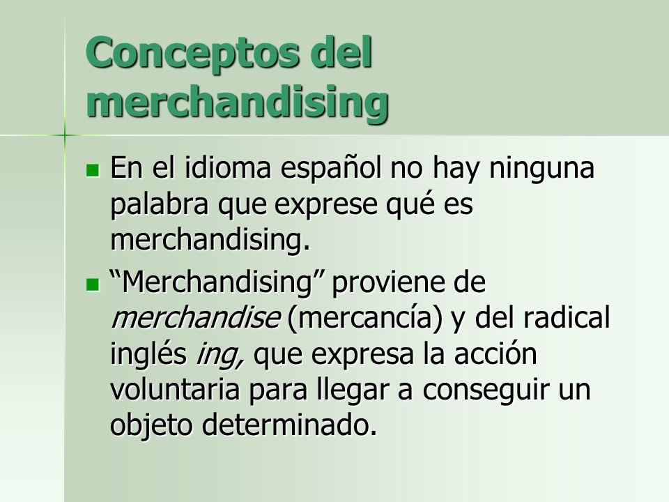 Conceptos del merchandising