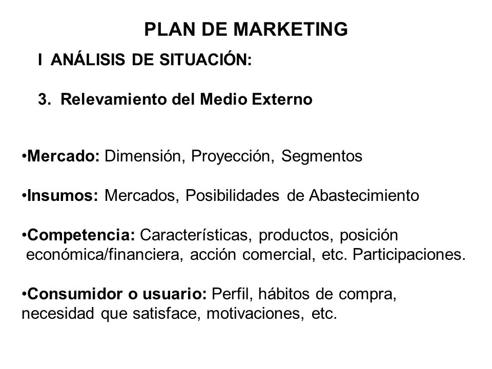 PLAN DE MARKETING I ANÁLISIS DE SITUACIÓN: