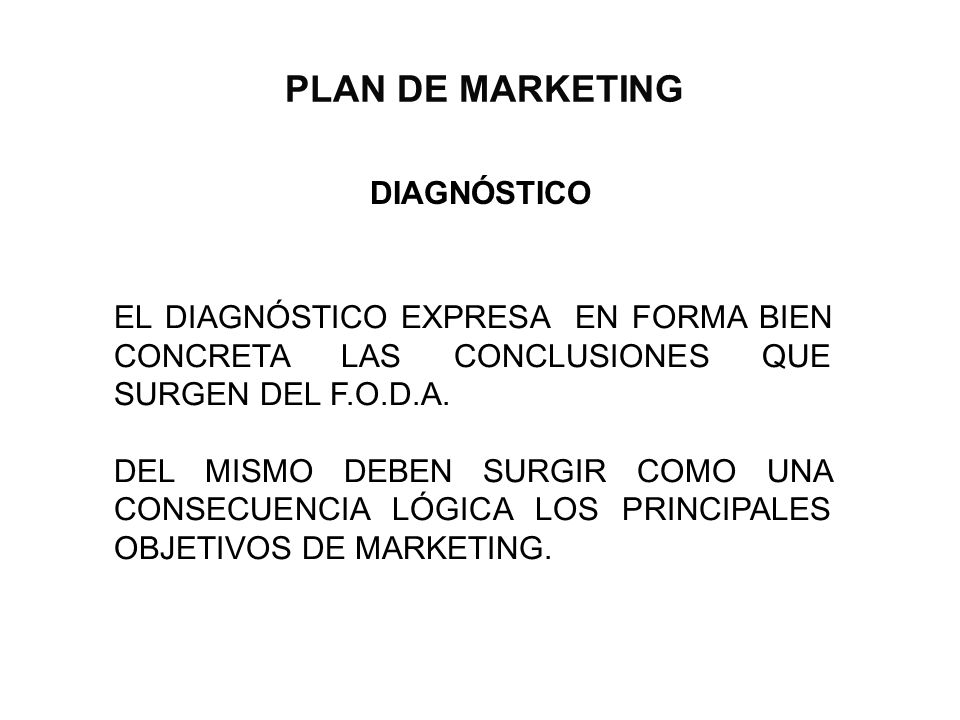 PLAN DE MARKETING DIAGNÓSTICO