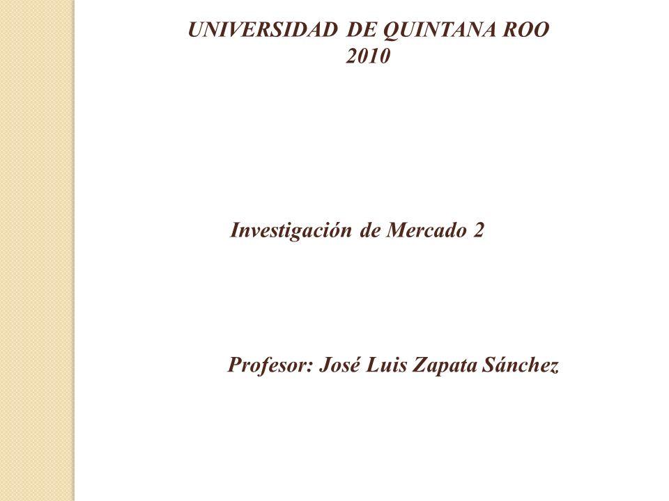 UNIVERSIDAD DE QUINTANA ROO Investigación de Mercado 2