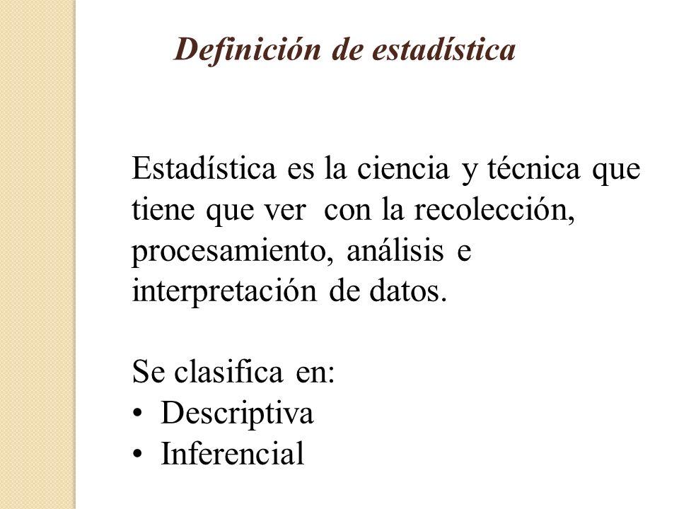 Definición de estadística