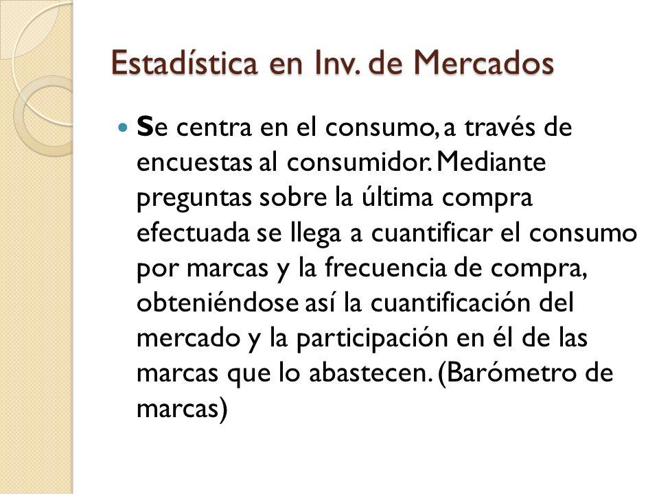 Estadística en Inv. de Mercados