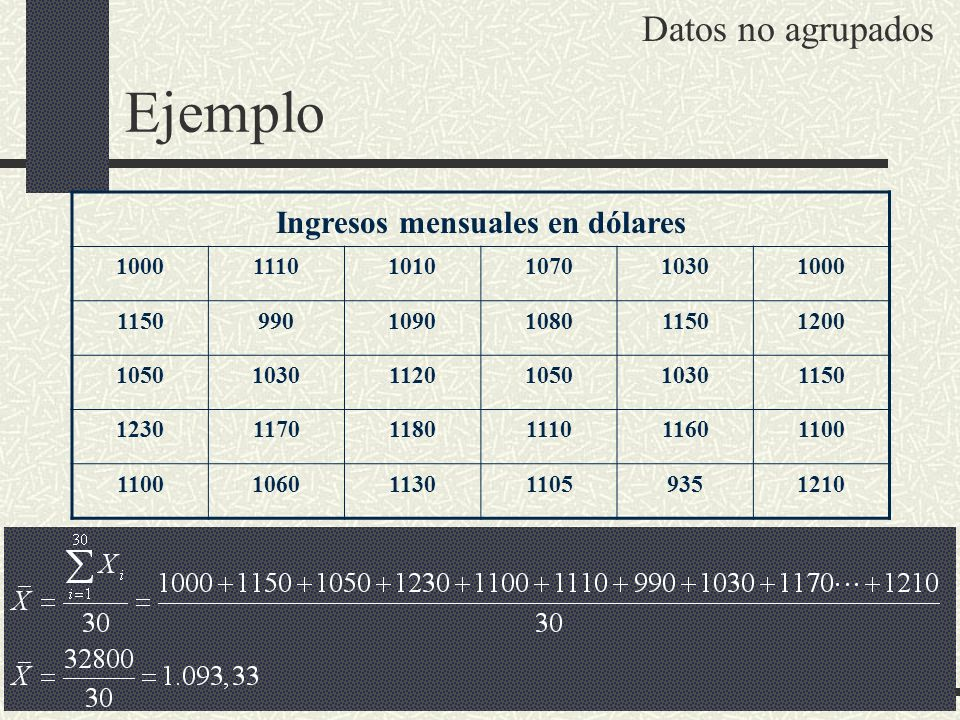 Ingresos mensuales en dólares