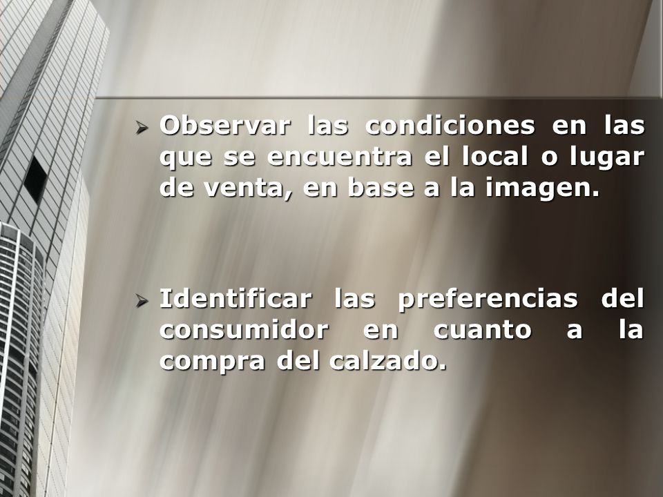 Observar las condiciones en las que se encuentra el local o lugar de venta, en base a la imagen.