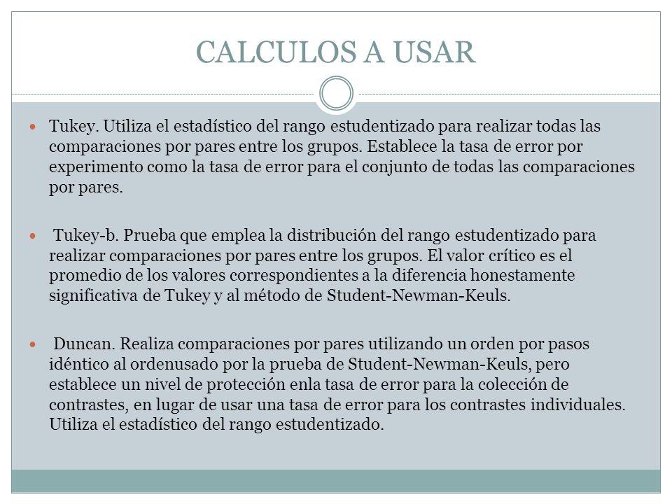 CALCULOS A USAR
