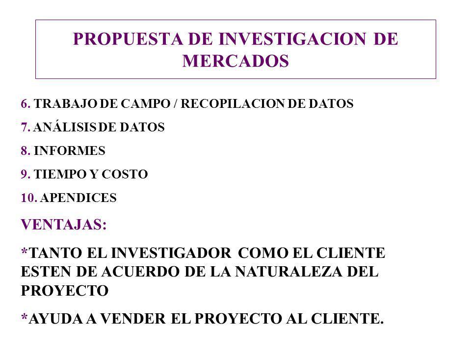 PROPUESTA DE INVESTIGACION DE MERCADOS