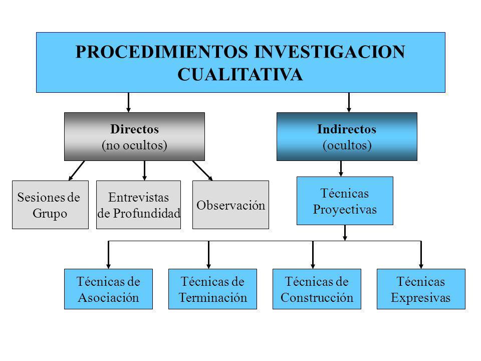 PROCEDIMIENTOS INVESTIGACION CUALITATIVA