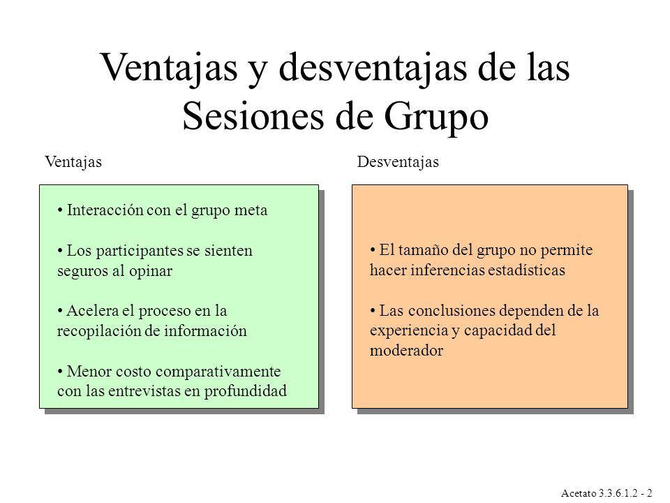 Ventajas y desventajas de las Sesiones de Grupo
