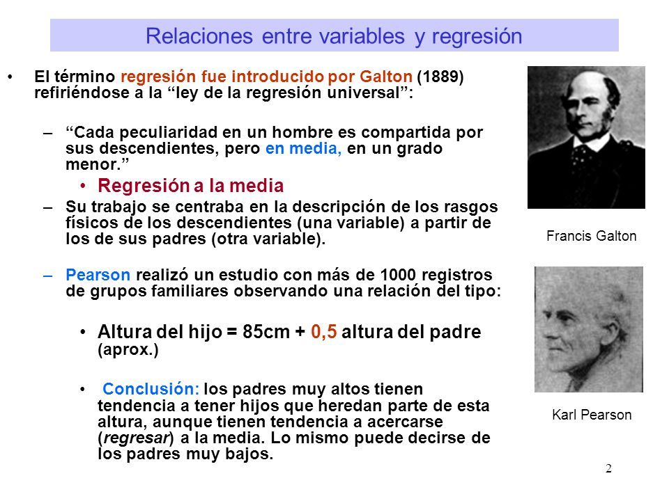 Relaciones entre variables y regresión