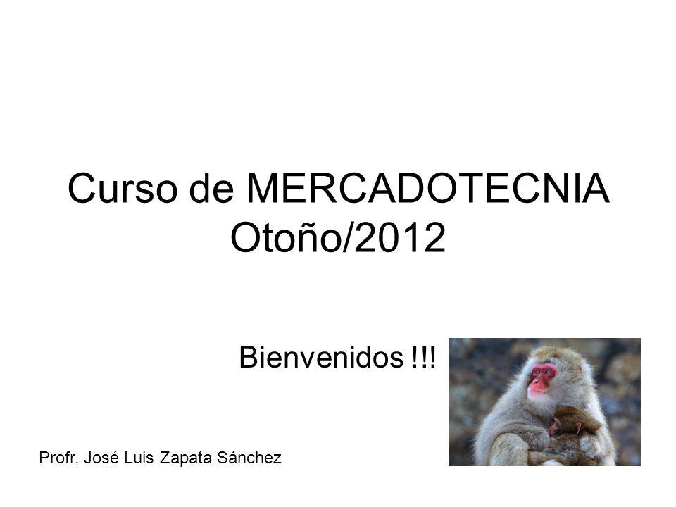 Curso de MERCADOTECNIA Otoño/2012