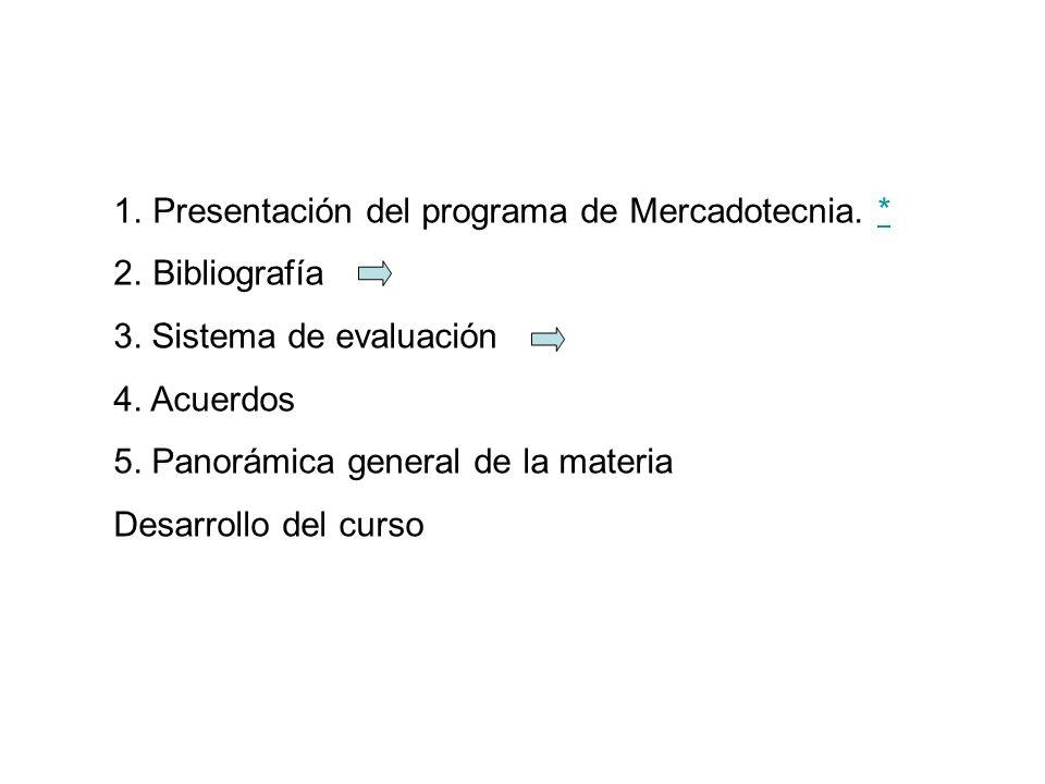 Presentación del programa de Mercadotecnia. *
