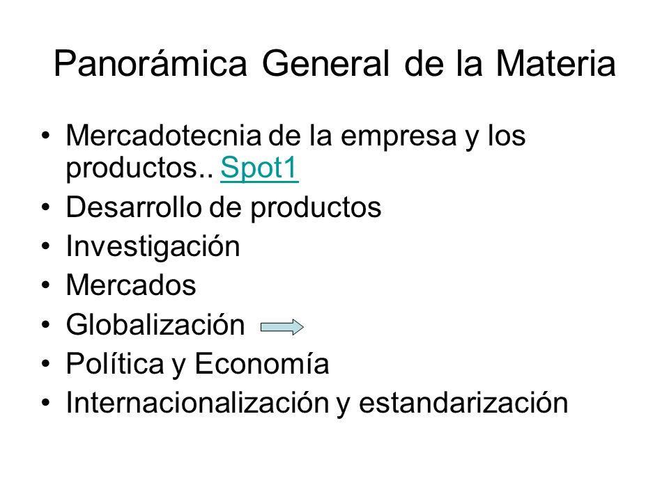 Panorámica General de la Materia