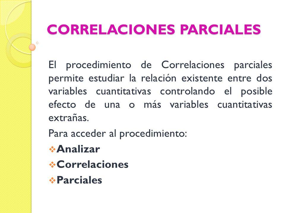 CORRELACIONES PARCIALES