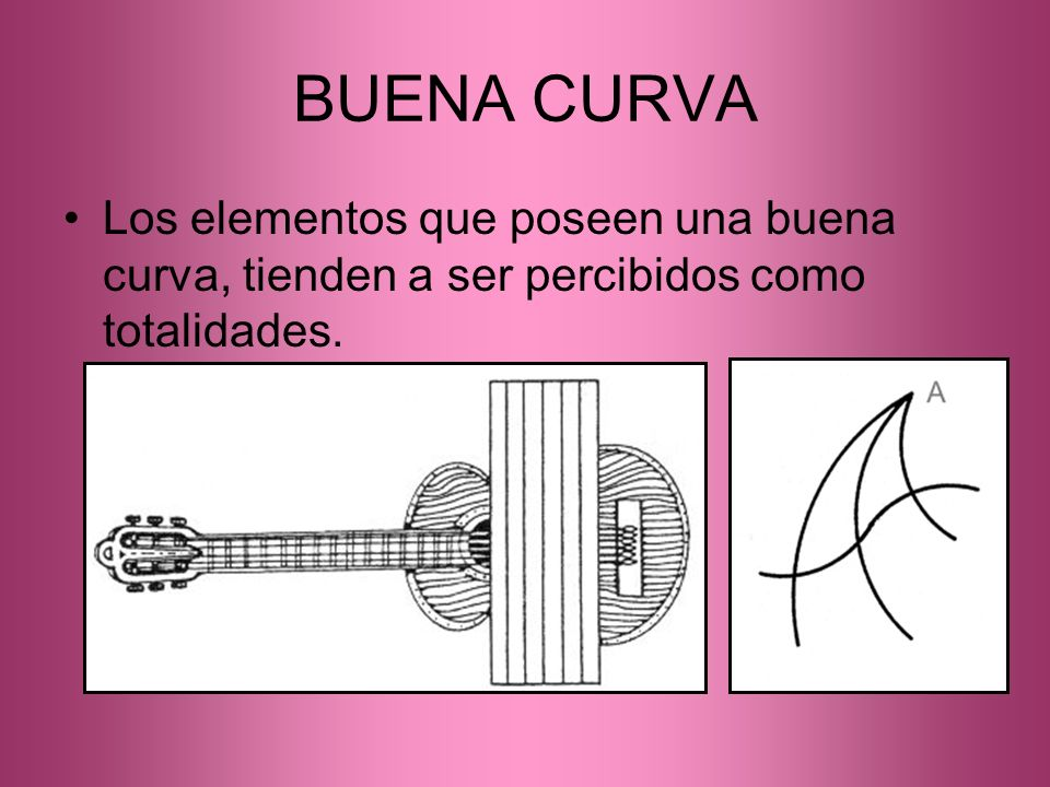 BUENA CURVA Los elementos que poseen una buena curva, tienden a ser percibidos como totalidades.