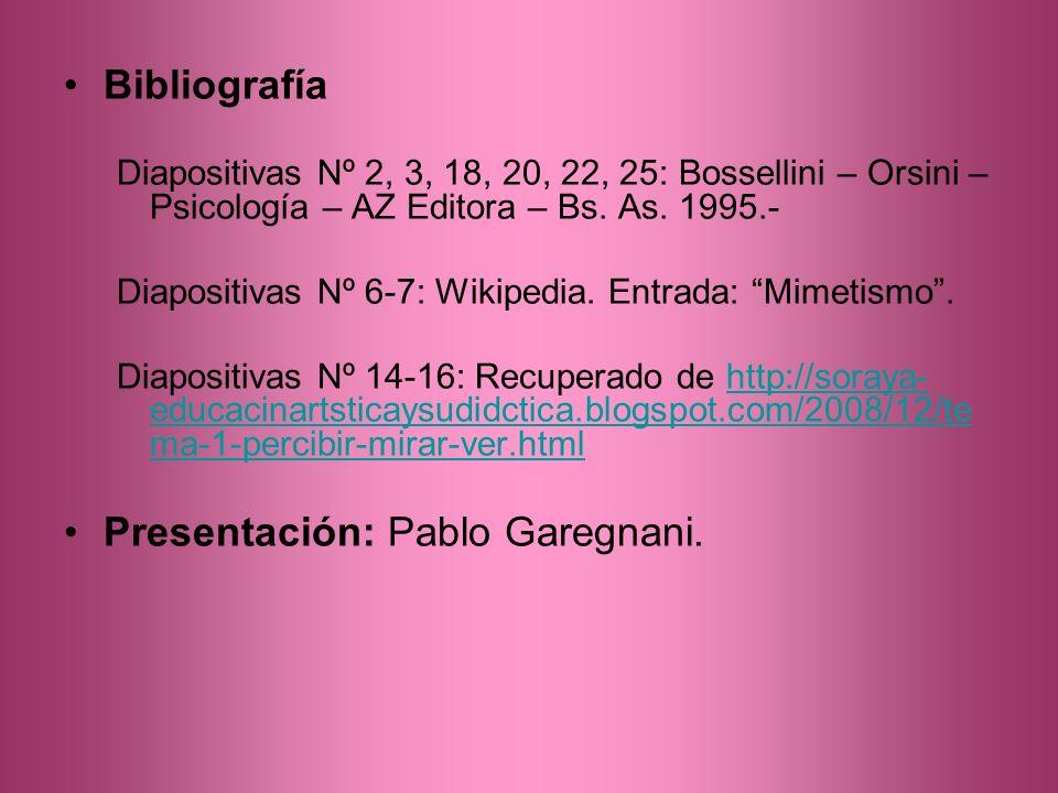 Presentación: Pablo Garegnani.