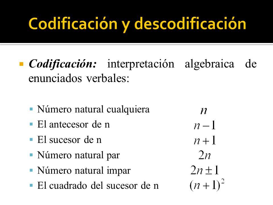 Codificación y descodificación