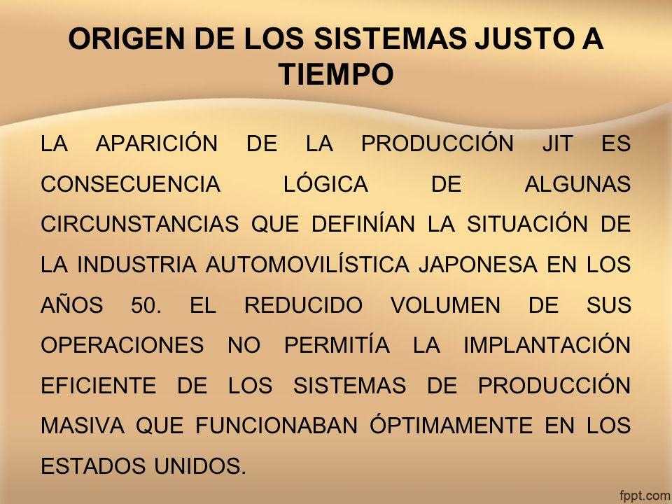 ORIGEN DE LOS SISTEMAS JUSTO A TIEMPO