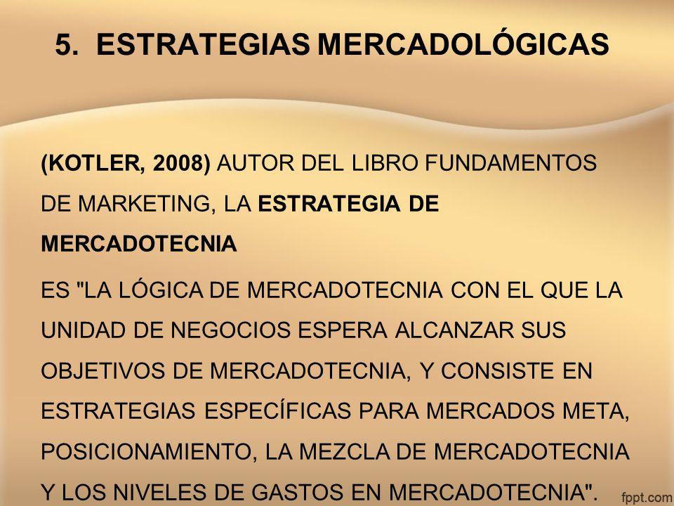 5. ESTRATEGIAS MERCADOLÓGICAS