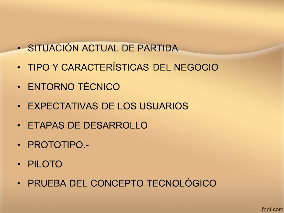 SITUACIÓN ACTUAL DE PARTIDA