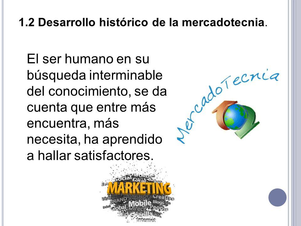 1.2 Desarrollo histórico de la mercadotecnia.