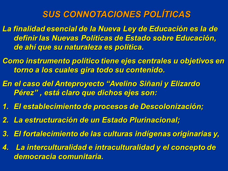 SUS CONNOTACIONES POLÍTICAS