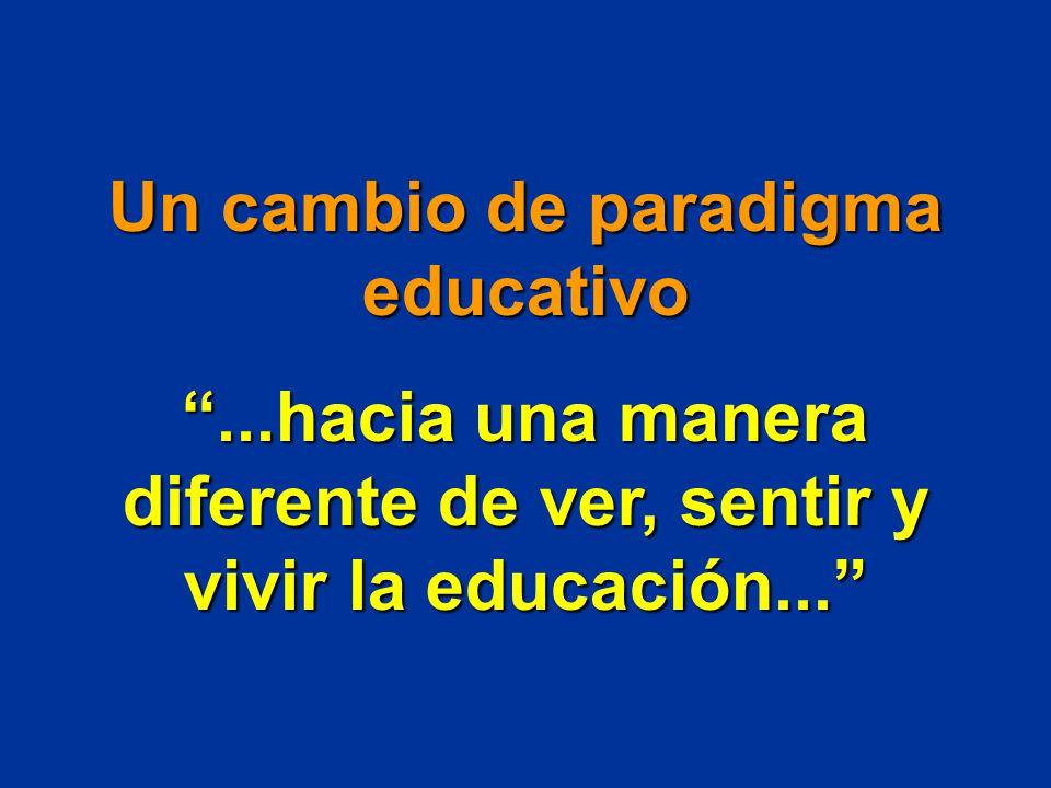Un cambio de paradigma educativo
