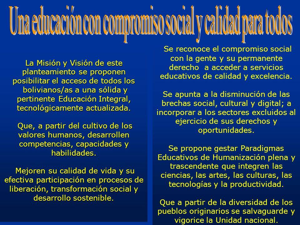 Una educación con compromiso social y calidad para todos