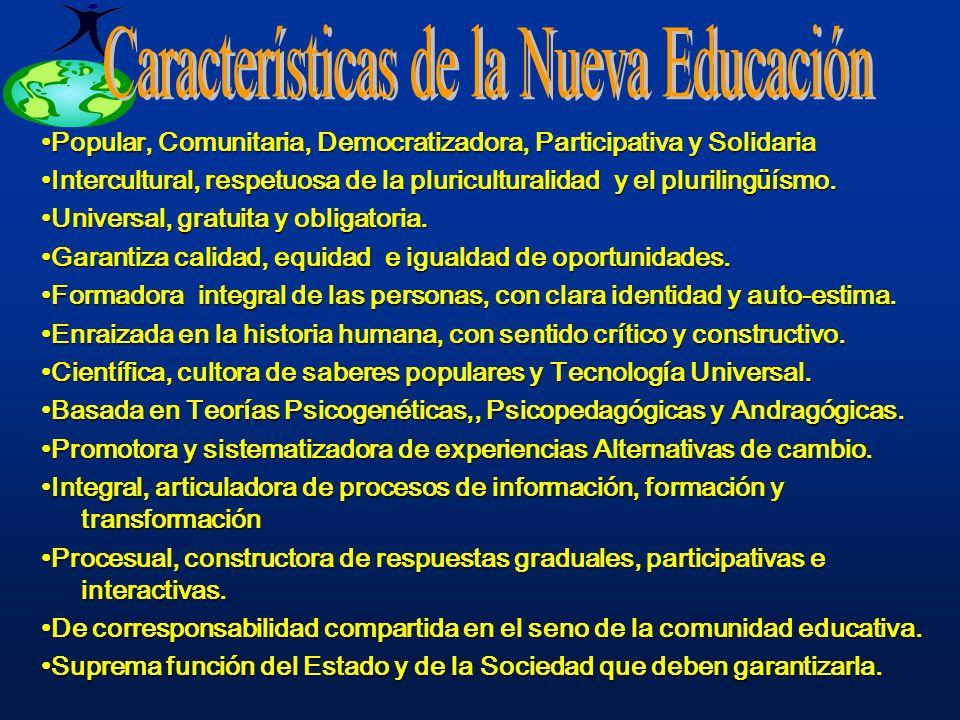 Características de la Nueva Educación