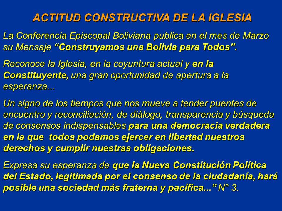 ACTITUD CONSTRUCTIVA DE LA IGLESIA