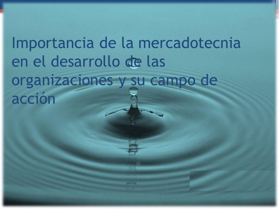 Importancia de la mercadotecnia en el desarrollo de las organizaciones y su campo de acción