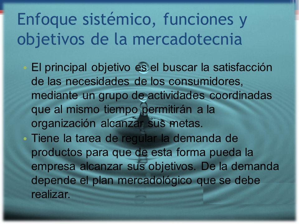 Enfoque sistémico, funciones y objetivos de la mercadotecnia