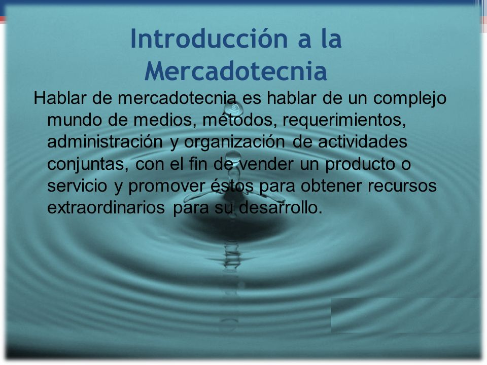 Introducción a la Mercadotecnia