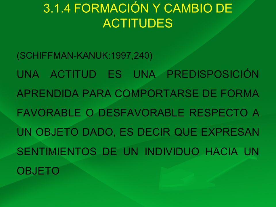 3.1.4 FORMACIÓN Y CAMBIO DE ACTITUDES