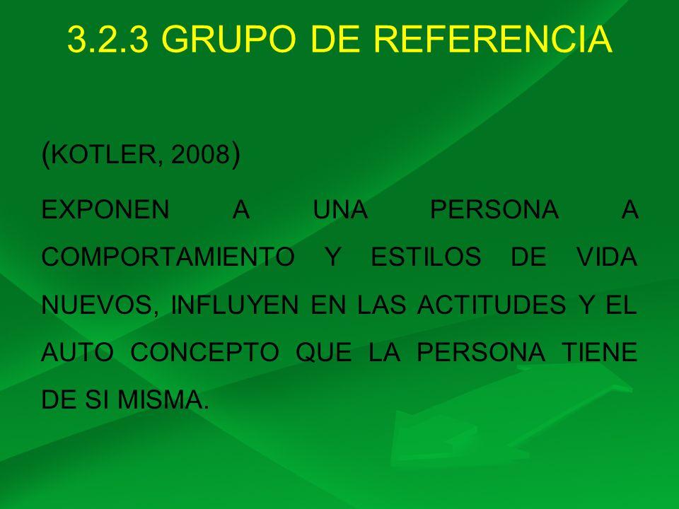 3.2.3 GRUPO DE REFERENCIA (KOTLER, 2008)