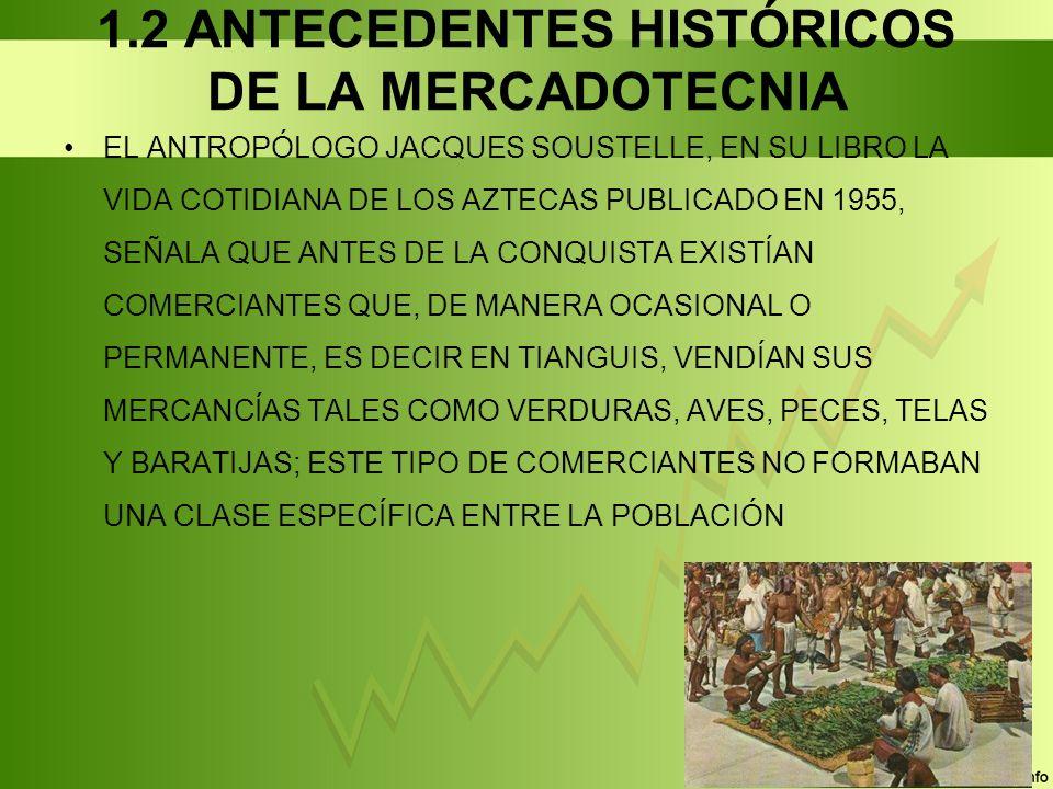 1.2 ANTECEDENTES HISTÓRICOS DE LA MERCADOTECNIA