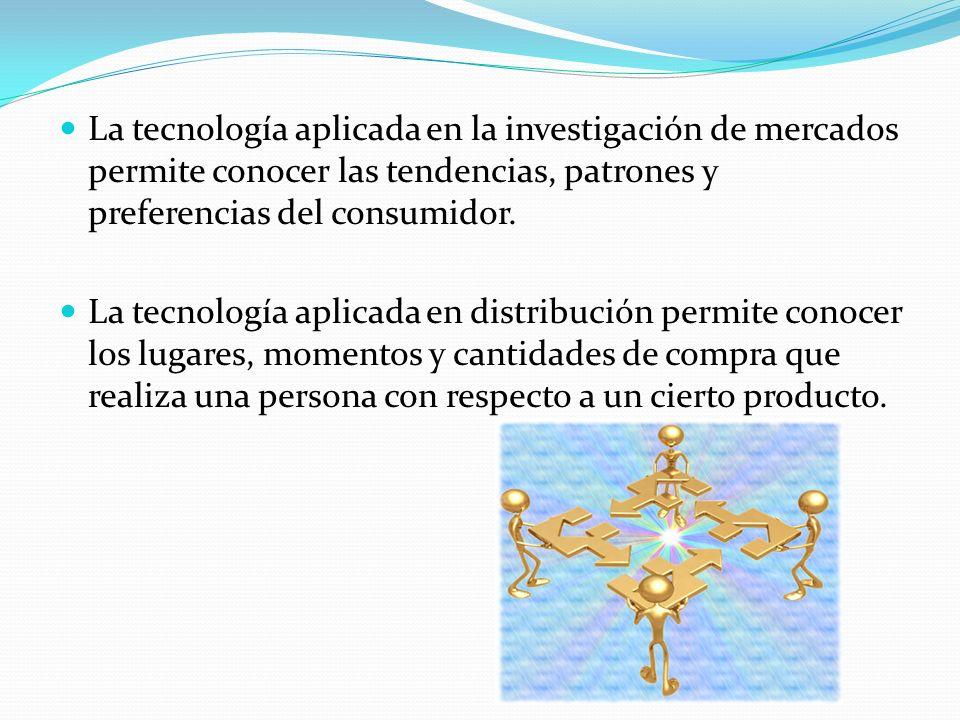 La tecnología aplicada en la investigación de mercados permite conocer las tendencias, patrones y preferencias del consumidor.