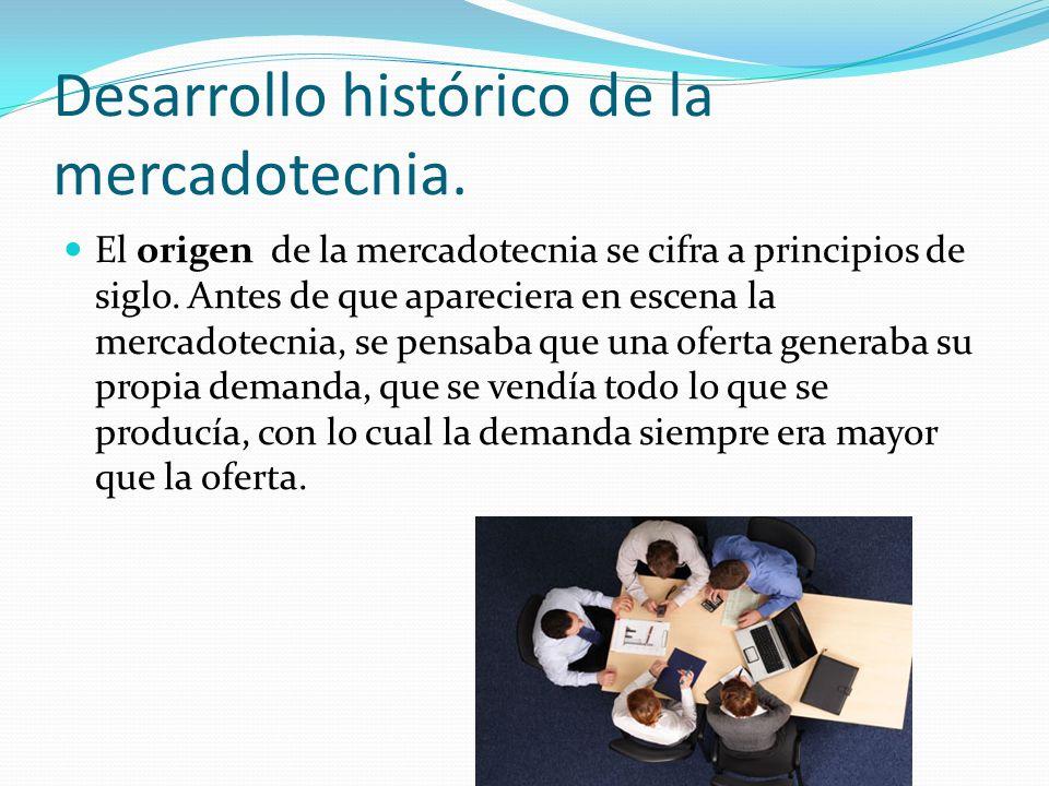 Desarrollo histórico de la mercadotecnia.