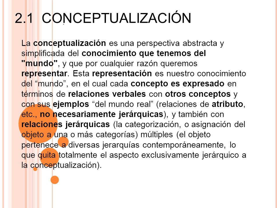 2.1 Conceptualización.