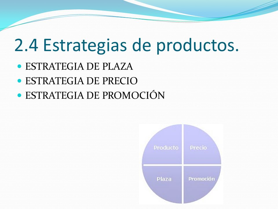 2.4 Estrategias de productos.