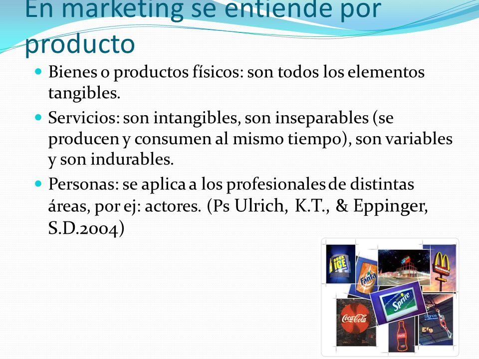 En marketing se entiende por producto
