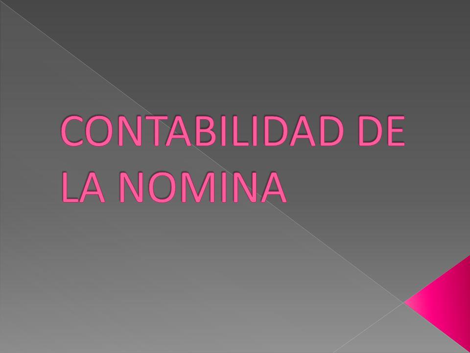 CONTABILIDAD DE LA NOMINA
