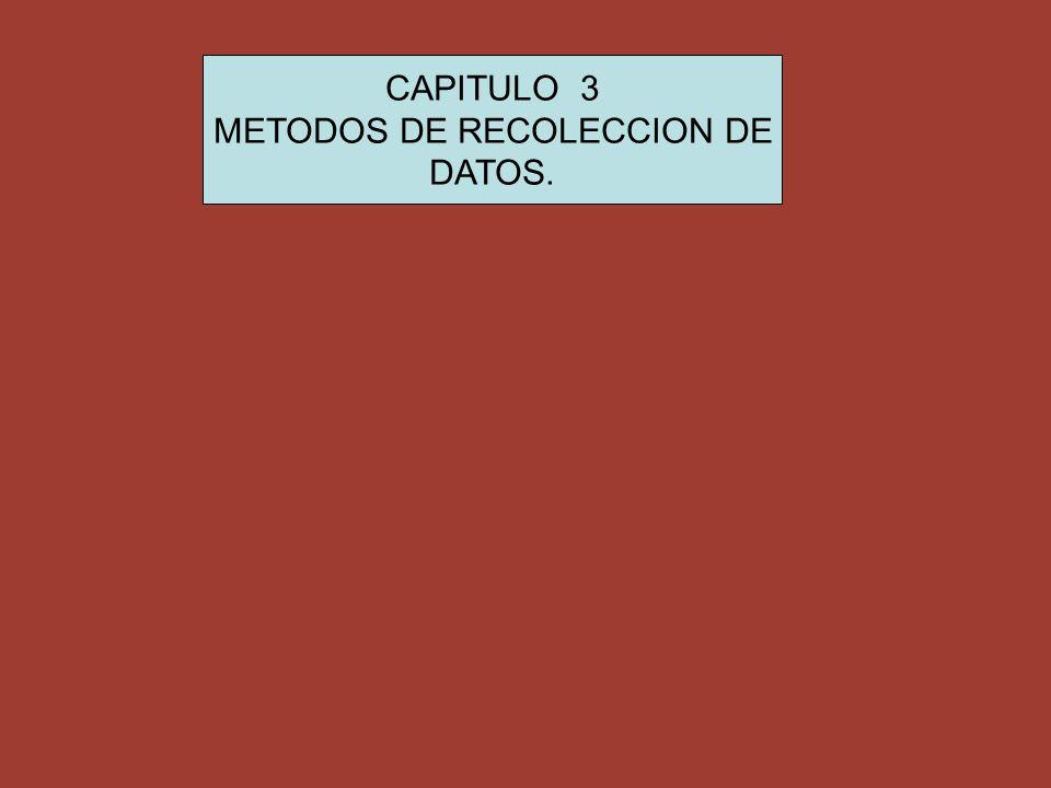 METODOS DE RECOLECCION DE