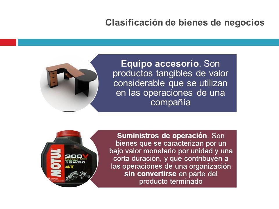 Clasificación de bienes de negocios