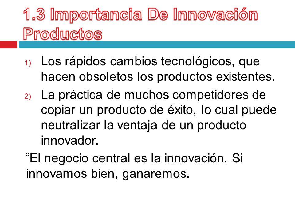 1.3 Importancia De Innovación Productos