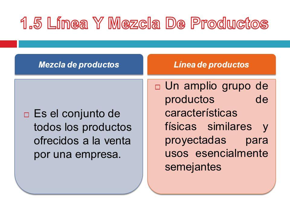 1.5 Línea Y Mezcla De Productos