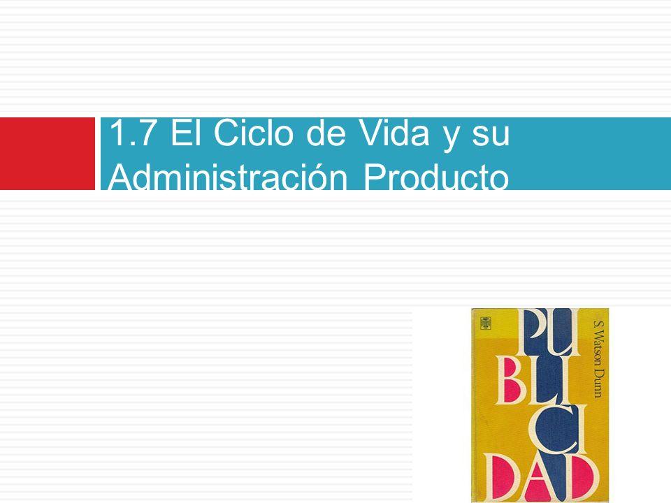 1.7 El Ciclo de Vida y su Administración Producto