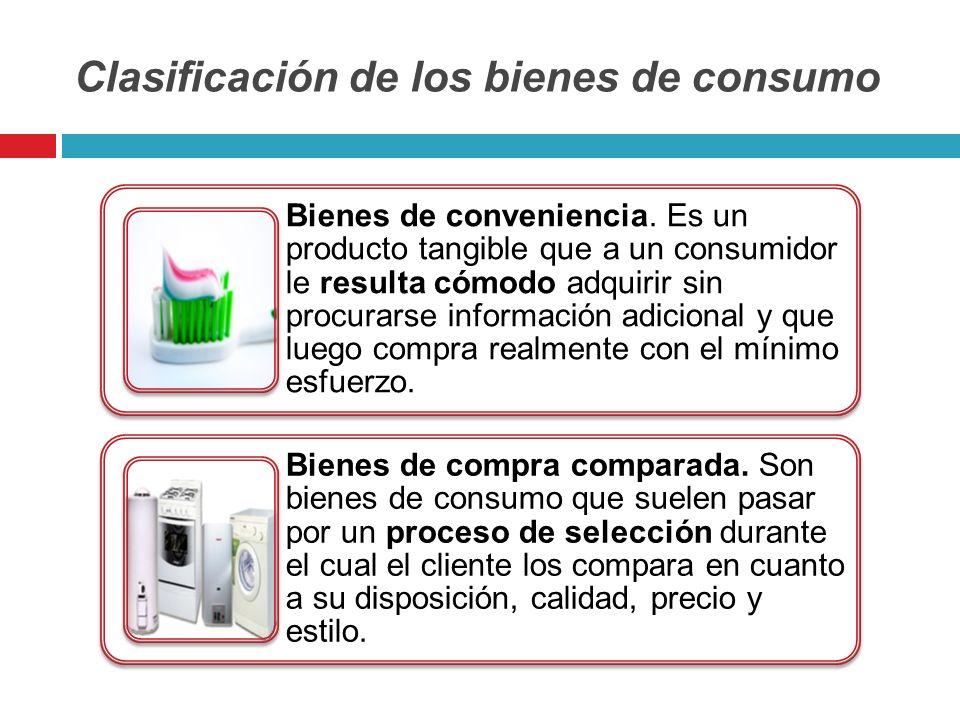 Clasificación de los bienes de consumo