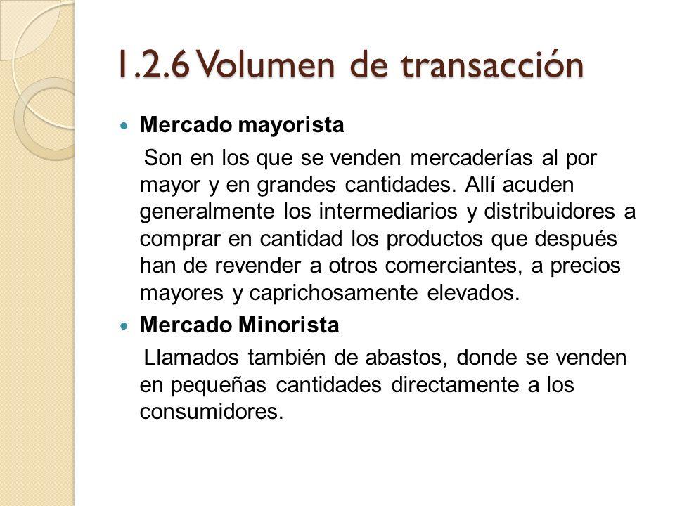 1.2.6 Volumen de transacción