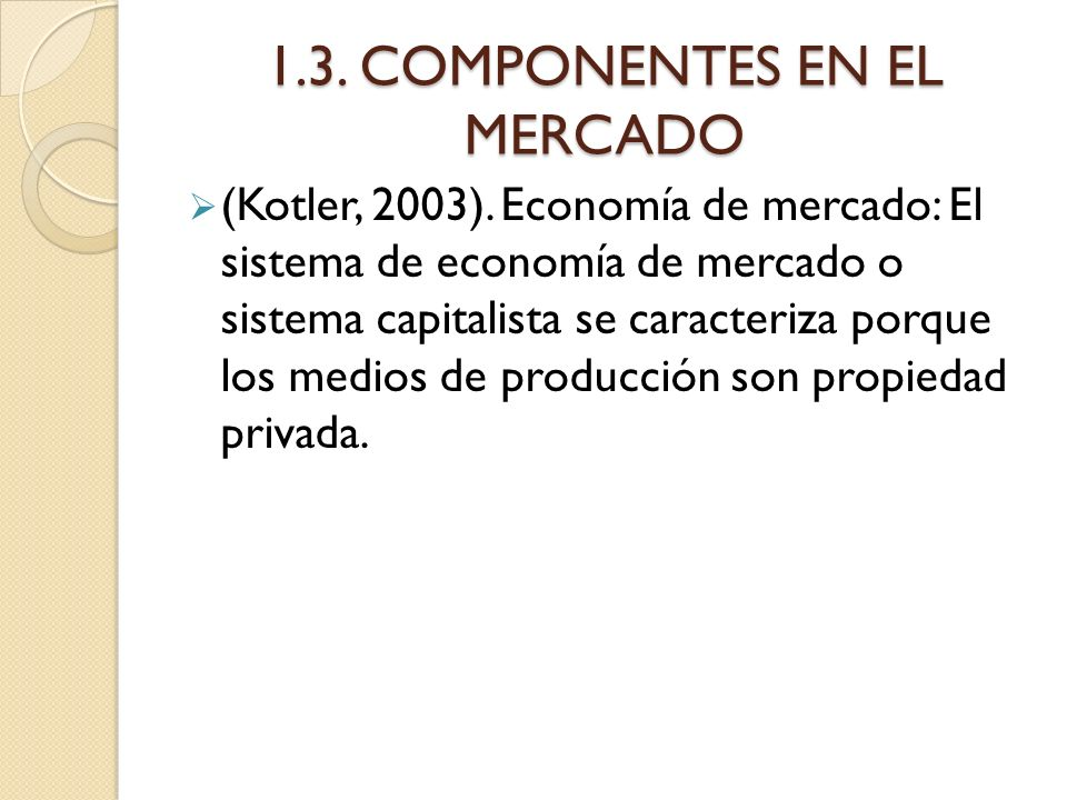 1.3. COMPONENTES EN EL MERCADO
