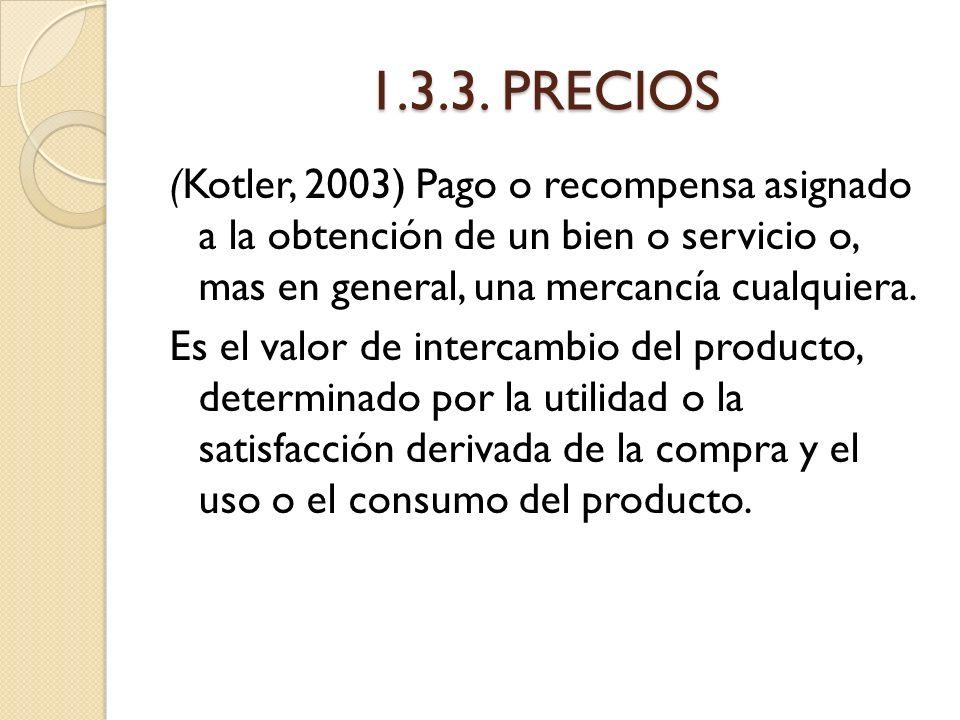 1.3.3. PRECIOS
